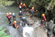 Family fun river canyoning in the French Pyrenees