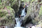 Early summer river canyoning in the Pyrenees