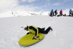 Airboard adventures in the Pyrenees