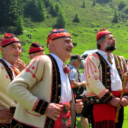 The traditional musicians and singers of Bethmale