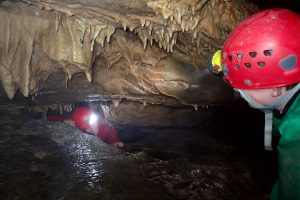 Children love caving on a family activity holiday
