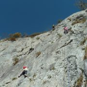 Rock climbing on a summer multi activity holiday
