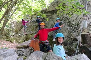 High ropes family adventures in Pyrenees