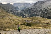 Family hiking Benasque valley Pyrenees
