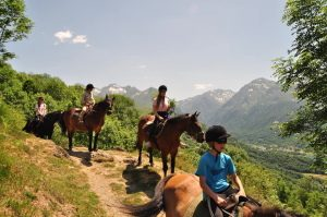Horse riding Pyrenees family adventure holiday