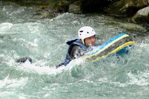 Summer adventure holiday hydrospeed fun