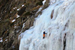 Making progress ice climbing