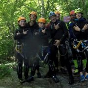 Family holiday canyoning fun in France
