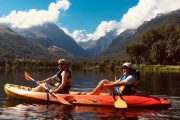 Incredible views lake kayak Pyrenees
