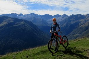 Great views on a mountain biking holiday in French Pyrenees