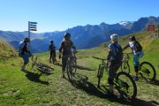 Ready for a descent on a women's MTB holiday in France
