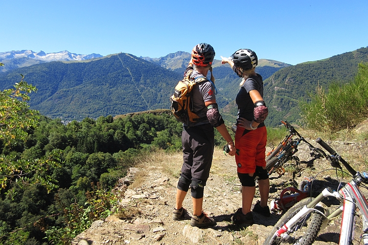 Great views on a womens MTB course in the French Pyrenees