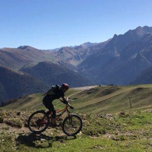 Mountain biking Superbagneres Pyrenees