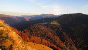 Autumn in the Pyrenees mountains