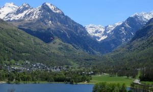 Louron valley in spring