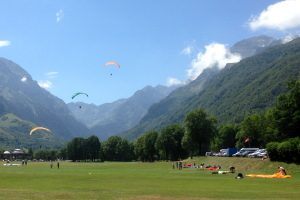 Paragliding in the Pyrenees