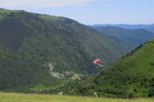 Paragliding in the Ariege Pyrenees
