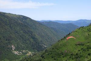 Paragliding near Massat in Ariege Pyrenees