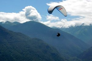 Paragliding on a Pyrenees multi activity holiday
