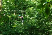 On the high ropes adventure course in French Pyrenees