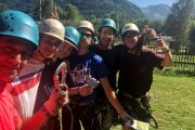 Tons of fun at the high ropes adventure centre near Luchon