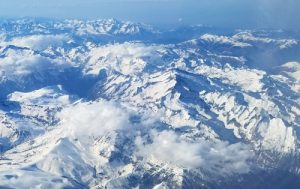 The Pyrenees viewed from the sky