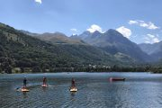 Stand up paddle boarding in the Pyrenees