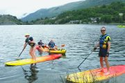 Family fun SUP in the Pyrenees