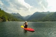 Tranquil moment SUP Pyrenees