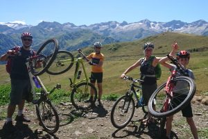 Pyrenees family mountain biking Pyrenees