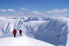 Getting high on a snowshoeing holiday in France