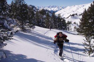 Explore France and Spain on a snowshoe short break