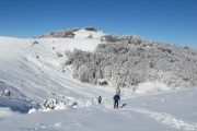 Beautiful snow on a snowshoeing holiday in the French Pyrenees