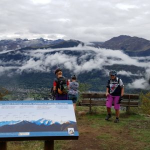 Pyrenees view on MTB holiday