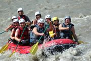 River rafting fun on an adventure holiday in France