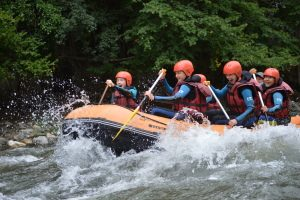 River rafting family adventure holiday