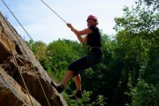 Even mums enjoy rock climbing in the French Pyrenees