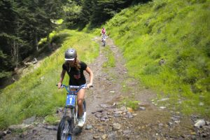 Trotinette on a multi activity holiday