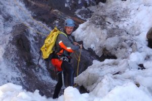 Canyoning in winter