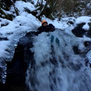 Canyoning on a winter adventure holiday