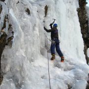 Ice climbing adventures on a winter holiday in France