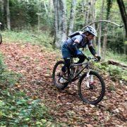 Womens MTB holiday woodland descent