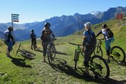 Great views on a women's MTB holiday in France