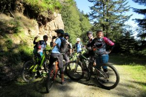 Great banter on a women's MTB holiday