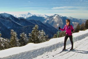 Great views assured XC skiing in Pyrenees