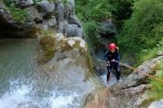 Canyoning on a summer multi activity holiday