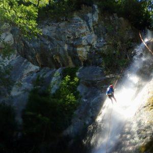 Multi activity holiday fun canyoning