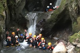 Smiles after river canyoning fun