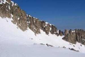 Ski touring final push to Pic Aneto