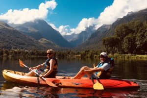 Lake kayaking in the Pyrenees
